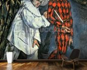Pierrot and Harlequin (Mardi Gras), 1888 (oil on canvas) wall mural kitchen preview