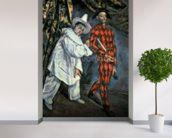 Pierrot and Harlequin (Mardi Gras), 1888 (oil on canvas) wall mural in-room view