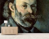Self Portrait, c.1879-85 (oil on canvas) wallpaper mural living room preview
