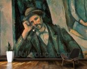 Man Smoking a Pipe, 1890-92 (oil on canvas) mural wallpaper kitchen preview