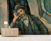 Man Smoking a Pipe, 1890-92 (oil on canvas) mural wallpaper living room preview