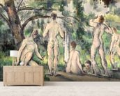 Study of Bathers, c.1895-98 (oil on canvas) wall mural living room preview