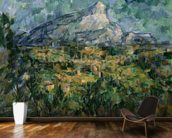 Mont Sainte-Victoire, 1904-05 (oil on canvas) wallpaper mural kitchen preview