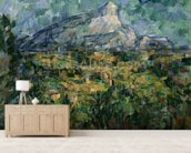 Mont Sainte-Victoire, 1904-05 (oil on canvas) wallpaper mural living room preview