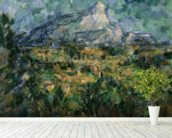 Mont Sainte-Victoire, 1904-05 (oil on canvas) wallpaper mural in-room view