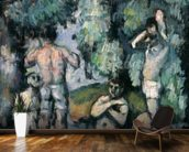 The Five Bathers, c.1875-77 (oil on canvas) mural wallpaper kitchen preview