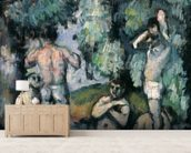 The Five Bathers, c.1875-77 (oil on canvas) mural wallpaper living room preview