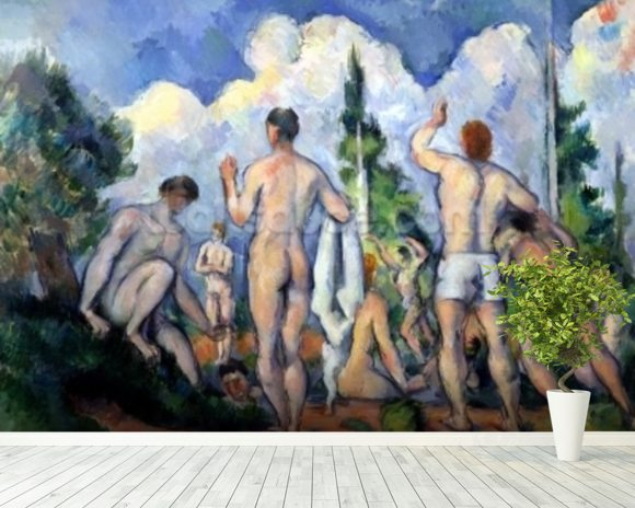 The Bathers, c.1890-92 (oil on canvas) wall mural room setting