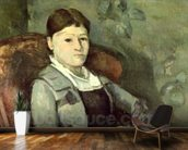 The Artists Wife in an Armchair, c.1867 (oil on canvas) mural wallpaper kitchen preview