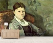 The Artists Wife in an Armchair, c.1867 (oil on canvas) mural wallpaper living room preview