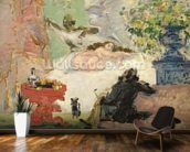 A Modern Olympia, 1873-74 (oil on canvas) wall mural kitchen preview