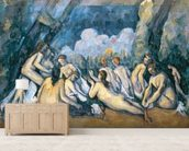 The Large Bathers, c.1900-05 (oil on canvas) wallpaper mural living room preview