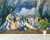 The Large Bathers, c.1900-05 (oil on canvas) wallpaper mural in-room view