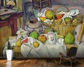 Still life with basket, 1888-90 (oil on canvas) mural wallpaper kitchen preview