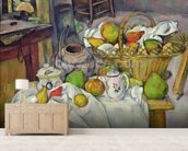 Still life with basket, 1888-90 (oil on canvas) mural wallpaper living room preview