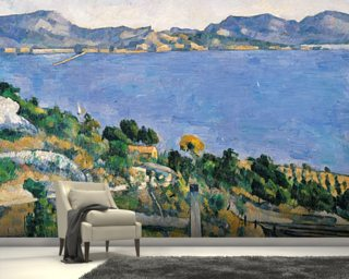 LEstaque, View of the Bay of Marseilles 1878 Wallpaper Wall Murals
