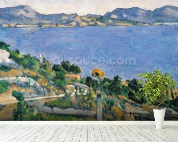 LEstaque, View of the Bay of Marseilles, c.1878-79 (oil on canvas) wall mural room setting