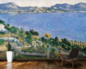 LEstaque, View of the Bay of Marseilles, c.1878-79 (oil on canvas) wall mural kitchen preview