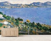 LEstaque, View of the Bay of Marseilles, c.1878-79 (oil on canvas) wall mural living room preview