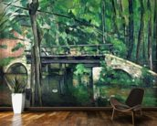 The Bridge at Maincy, or The Bridge at Mennecy, or The Little Bridge, c.1879 (oil on canvas) wallpaper mural kitchen preview