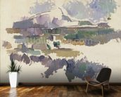 Montagne Sainte-Victoire, 1904-05 (oil on canvas) wallpaper mural kitchen preview