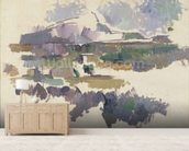 Montagne Sainte-Victoire, 1904-05 (oil on canvas) wallpaper mural living room preview