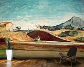 The Railway Cutting, c.1870 (oil on canvas) mural wallpaper kitchen preview