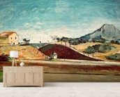 The Railway Cutting, c.1870 (oil on canvas) mural wallpaper living room preview
