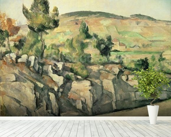 Hillside in Provence, c.1886-90 (oil on canvas) wall mural room setting