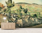 Hillside in Provence, c.1886-90 (oil on canvas) wall mural living room preview