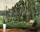 The Poplars, c.1879-82 (oil on canvas) wallpaper mural kitchen preview