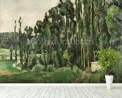 The Poplars, c.1879-82 (oil on canvas) wallpaper mural in-room view