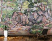 Woodland with Boulders, 1893 (oil on canvas) mural wallpaper kitchen preview