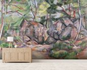 Woodland with Boulders, 1893 (oil on canvas) mural wallpaper living room preview