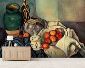 Still Life with Apples, 1893-94 (oil on canvas) wall mural living room preview