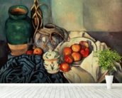 Still Life with Apples, 1893-94 (oil on canvas) wall mural in-room view