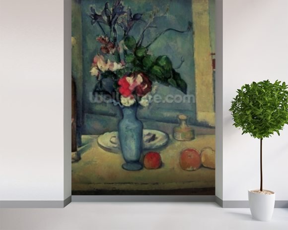The Blue Vase, 1889-90 (oil on canvas) wallpaper mural room setting