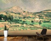 Montagne Sainte-Victoire, c.1882-85 (oil on canvas) mural wallpaper kitchen preview