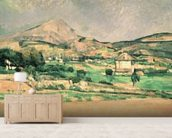 Montagne Sainte-Victoire, c.1882-85 (oil on canvas) mural wallpaper living room preview