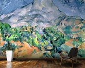 Mont Sainte-Victoire, 1900 (oil on canvas) wall mural kitchen preview