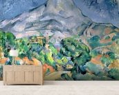 Mont Sainte-Victoire, 1900 (oil on canvas) wall mural living room preview