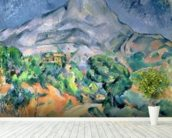 Mont Sainte-Victoire, 1900 (oil on canvas) wall mural in-room view