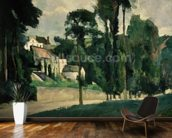 The Road at Pontoise, 1875 (oil on canvas) wallpaper mural kitchen preview
