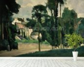 The Road at Pontoise, 1875 (oil on canvas) wallpaper mural in-room view