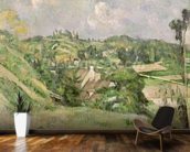 Auvers-sur-Oise, seen from the Val Harme, 1879-82 (oil on canvas) mural wallpaper kitchen preview