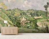 Auvers-sur-Oise, seen from the Val Harme, 1879-82 (oil on canvas) mural wallpaper living room preview