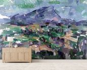 Montagne Sainte-Victoire, 1904-06 (oil on canvas) wallpaper mural living room preview