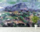 Montagne Sainte-Victoire, 1904-06 (oil on canvas) wallpaper mural in-room view