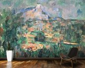 Montagne Sainte-Victoire from Lauves, 1904-06 (oil on canvas) wall mural kitchen preview