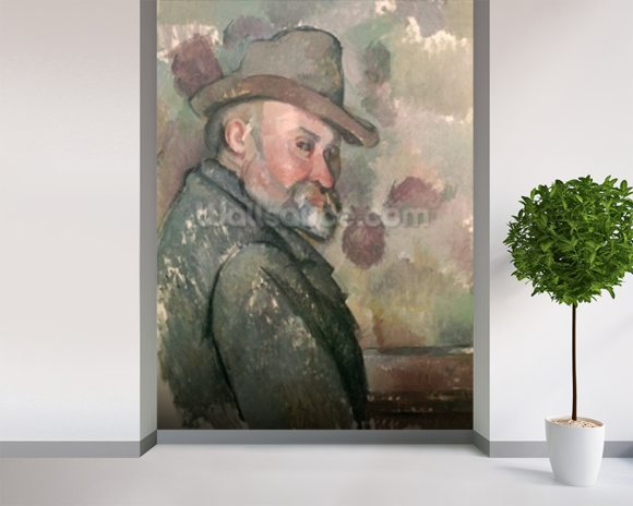 Self Portrait, 1890-94 (oil on canvas) wall mural room setting